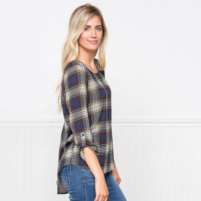 Hard to Beat Plaid Top