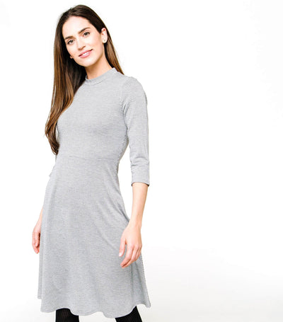 High Neck Fit n Flare Dress