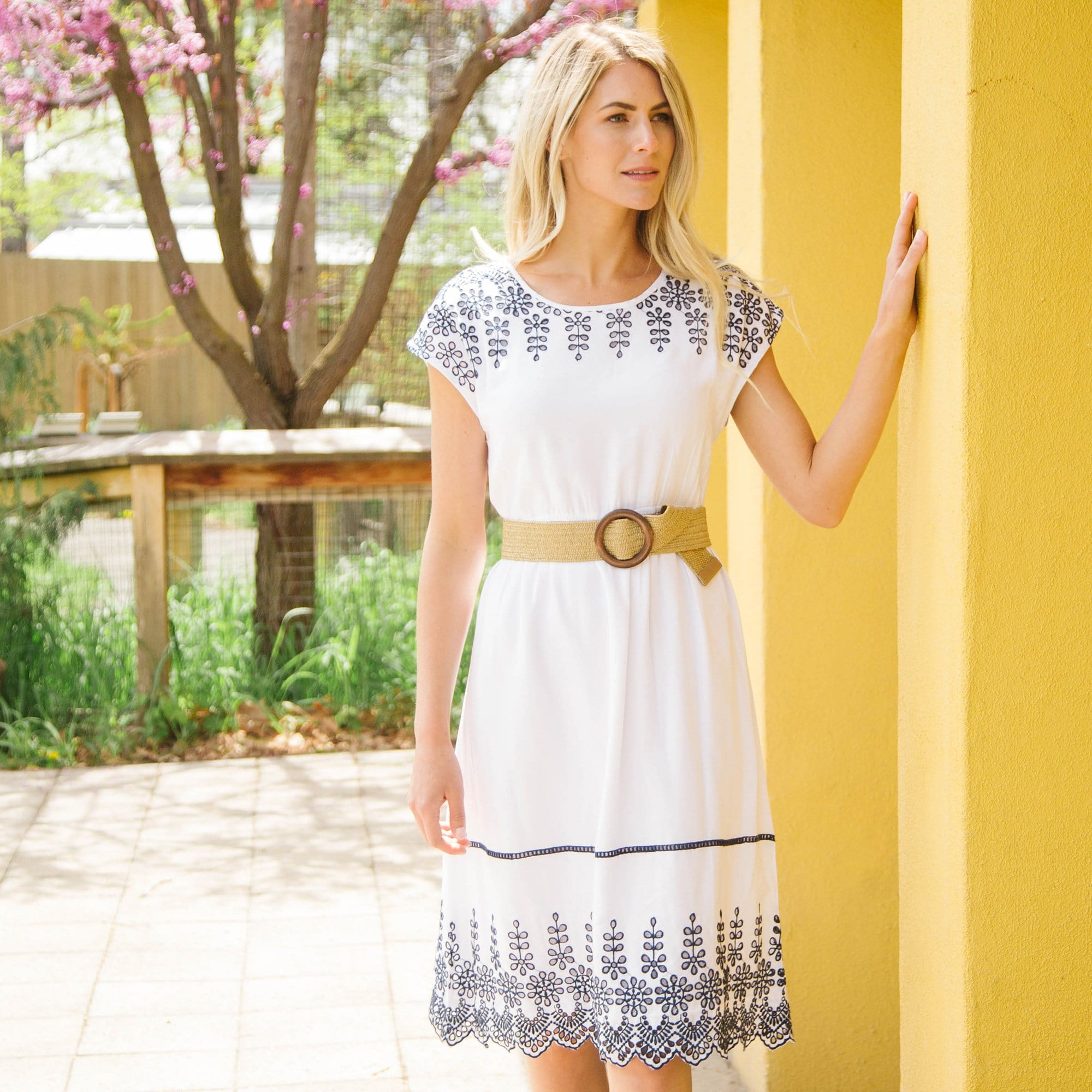Border Embroidery Dress