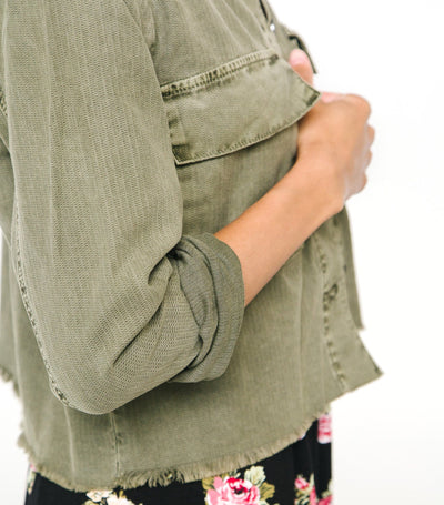 Cropped Boyfriend Jacket