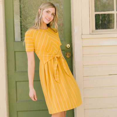 Front Tie Knit Dress