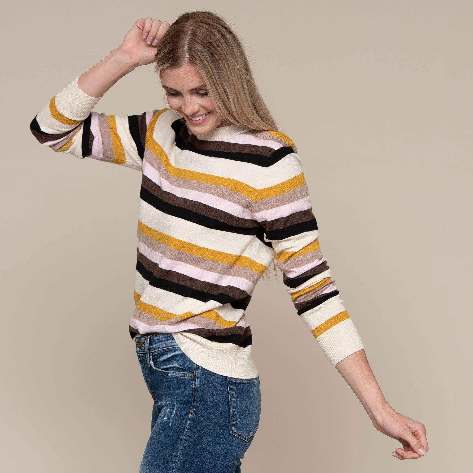 Multi Stripe Sweater Top