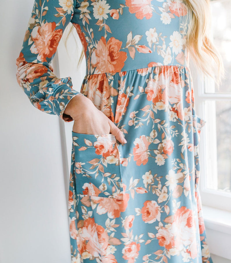 Long Sleeve Floral Dress