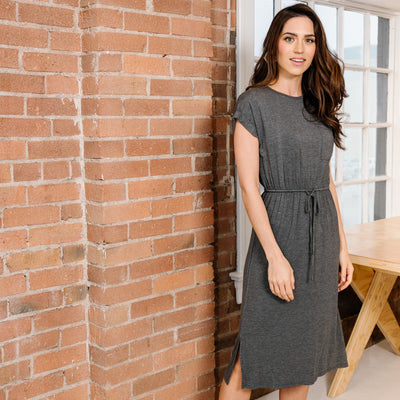 Drawstring Waist Knit Dress