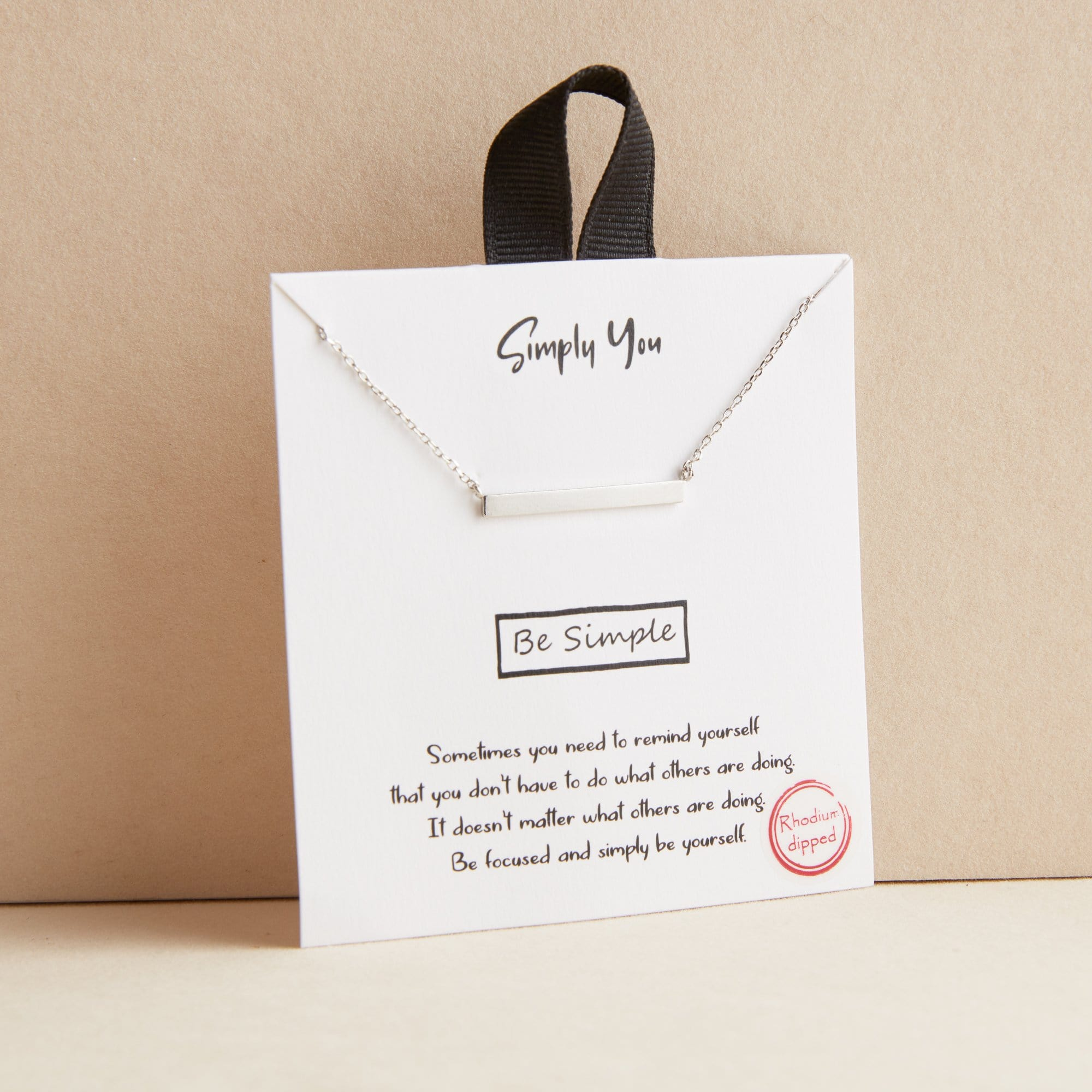 Simply You Bar Necklace
