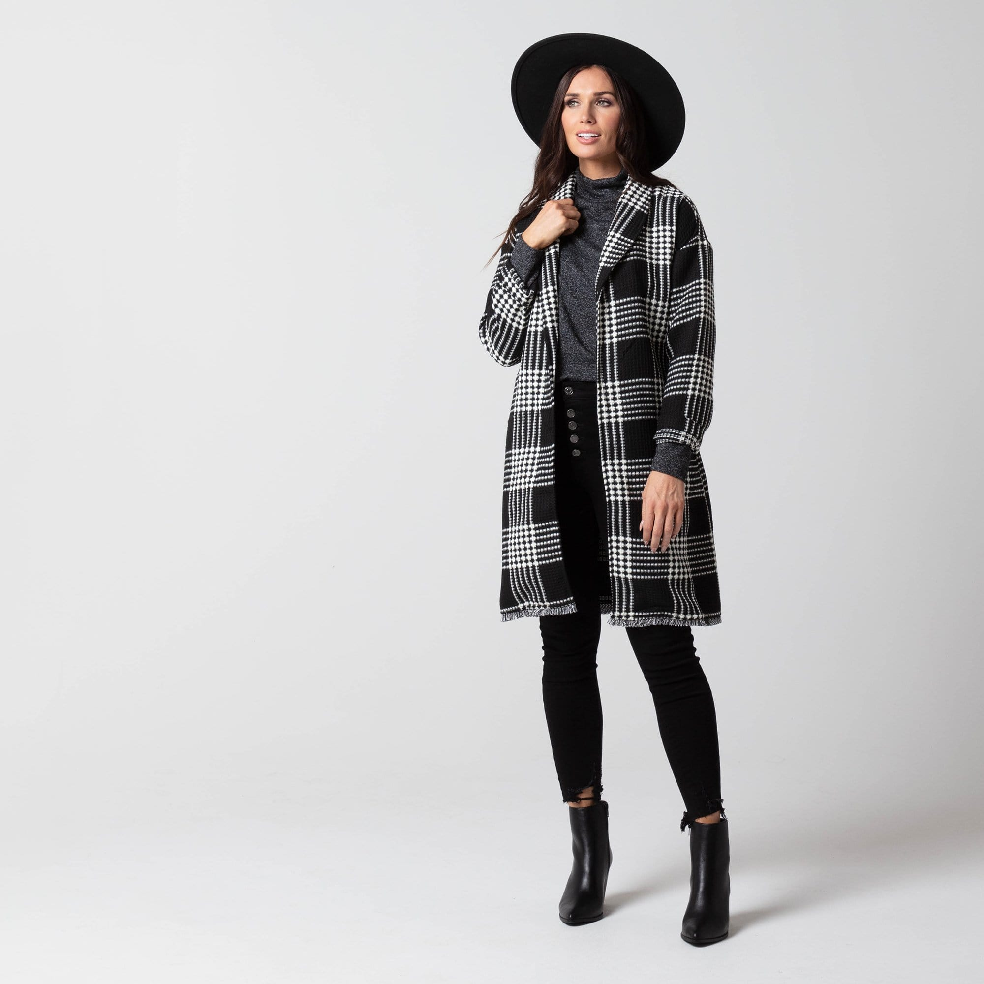 Perfectly Plaid Duster Coat