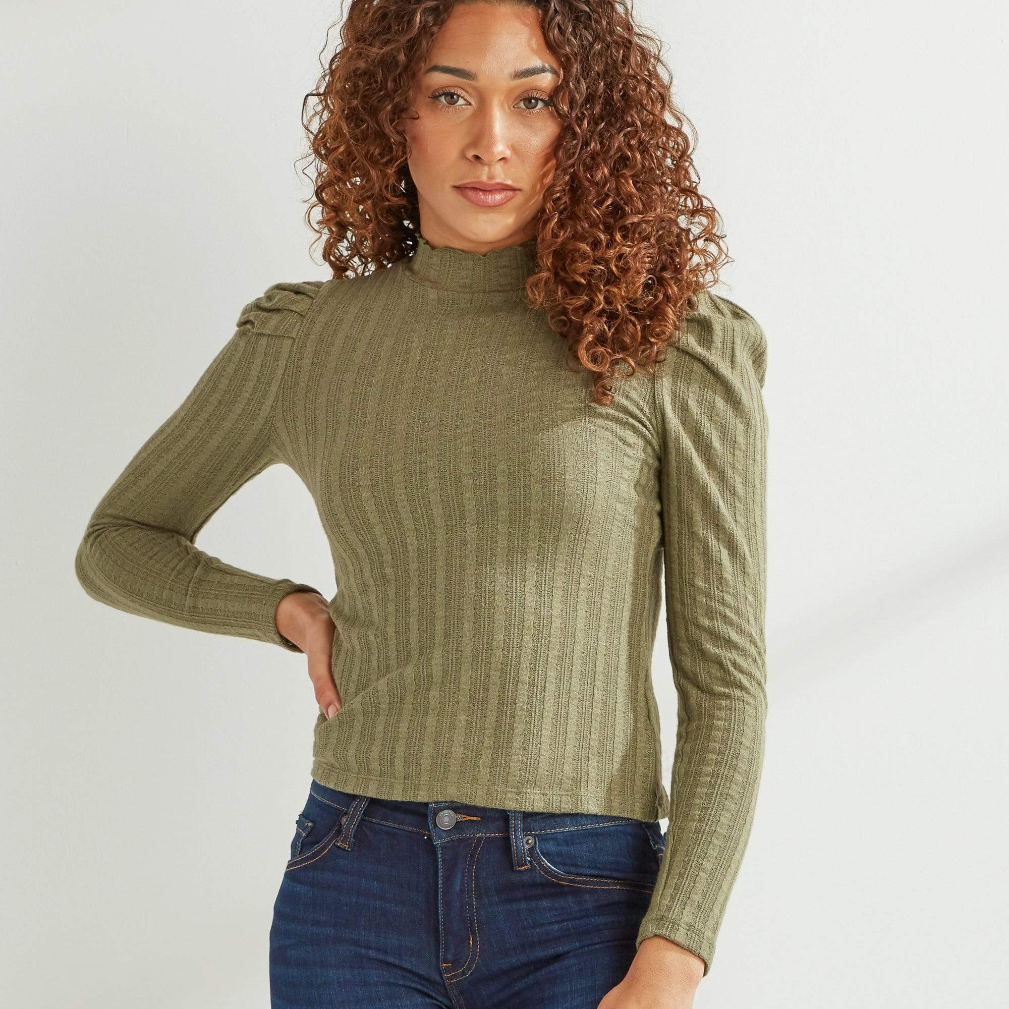 Pleat Sleeve Top