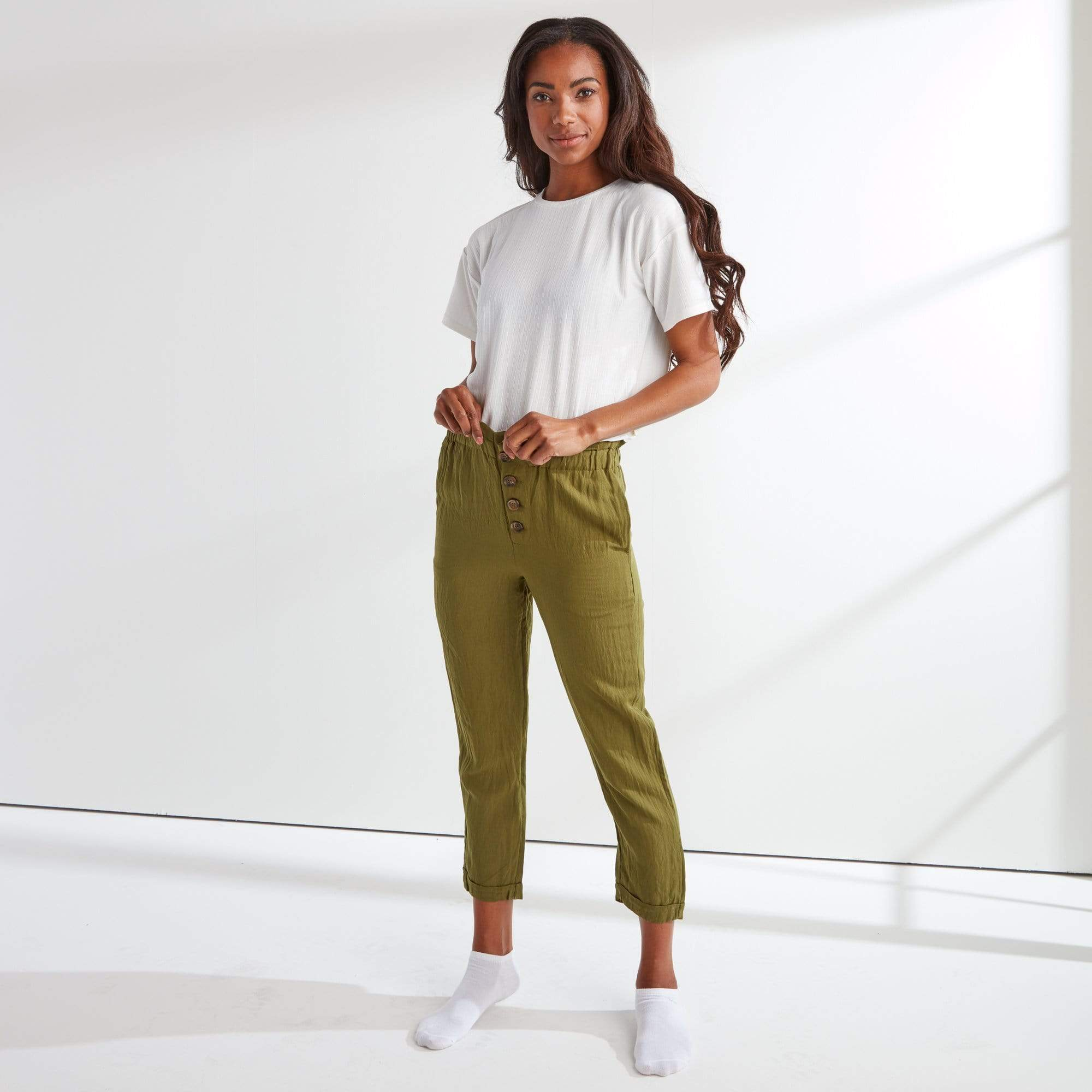 Ruffle Button Fly Pant