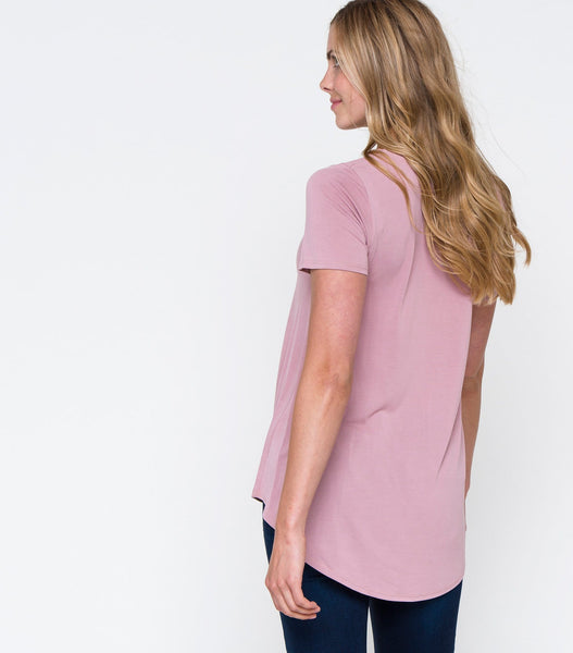Short Sleeve V-Neck Top