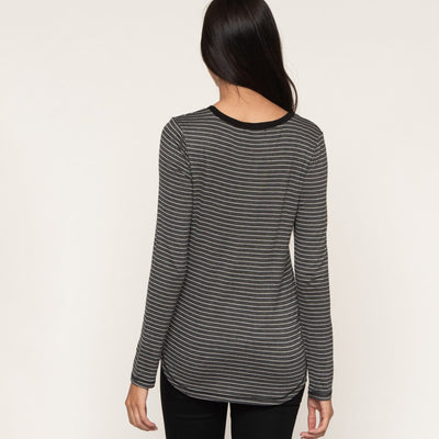 Signature Long Sleeve Striped Tee