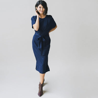 Dolman Wrap Belt Dress