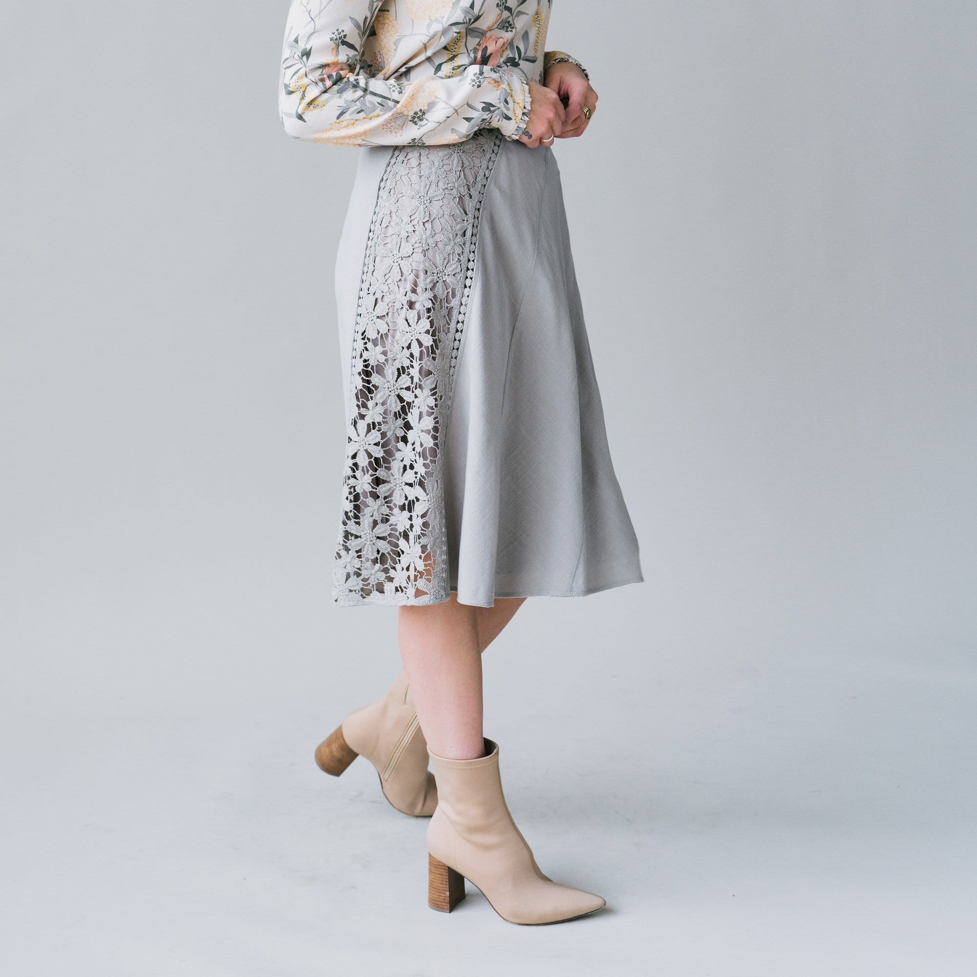 Lace Trim Skirt