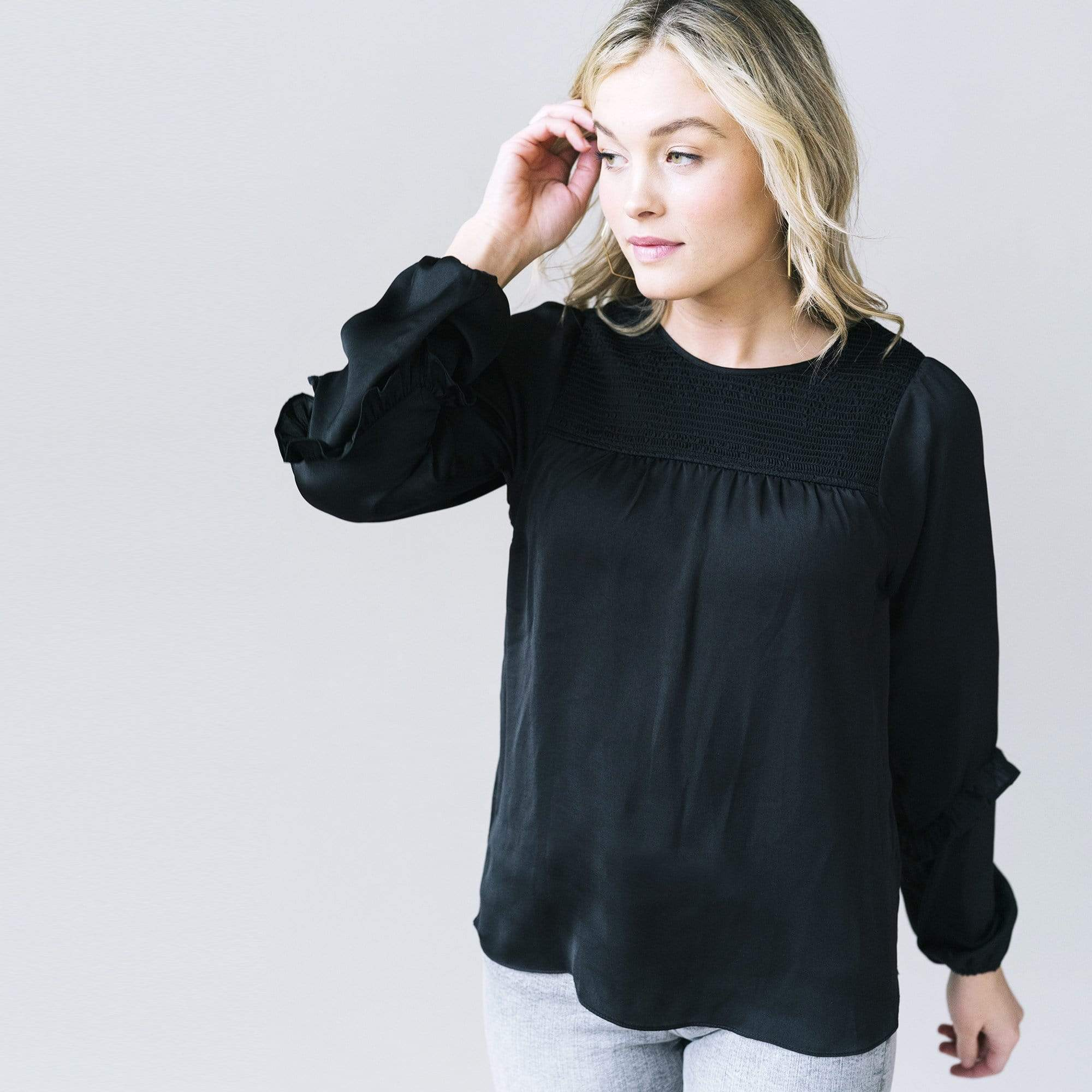 Smocked Yoke Blouse