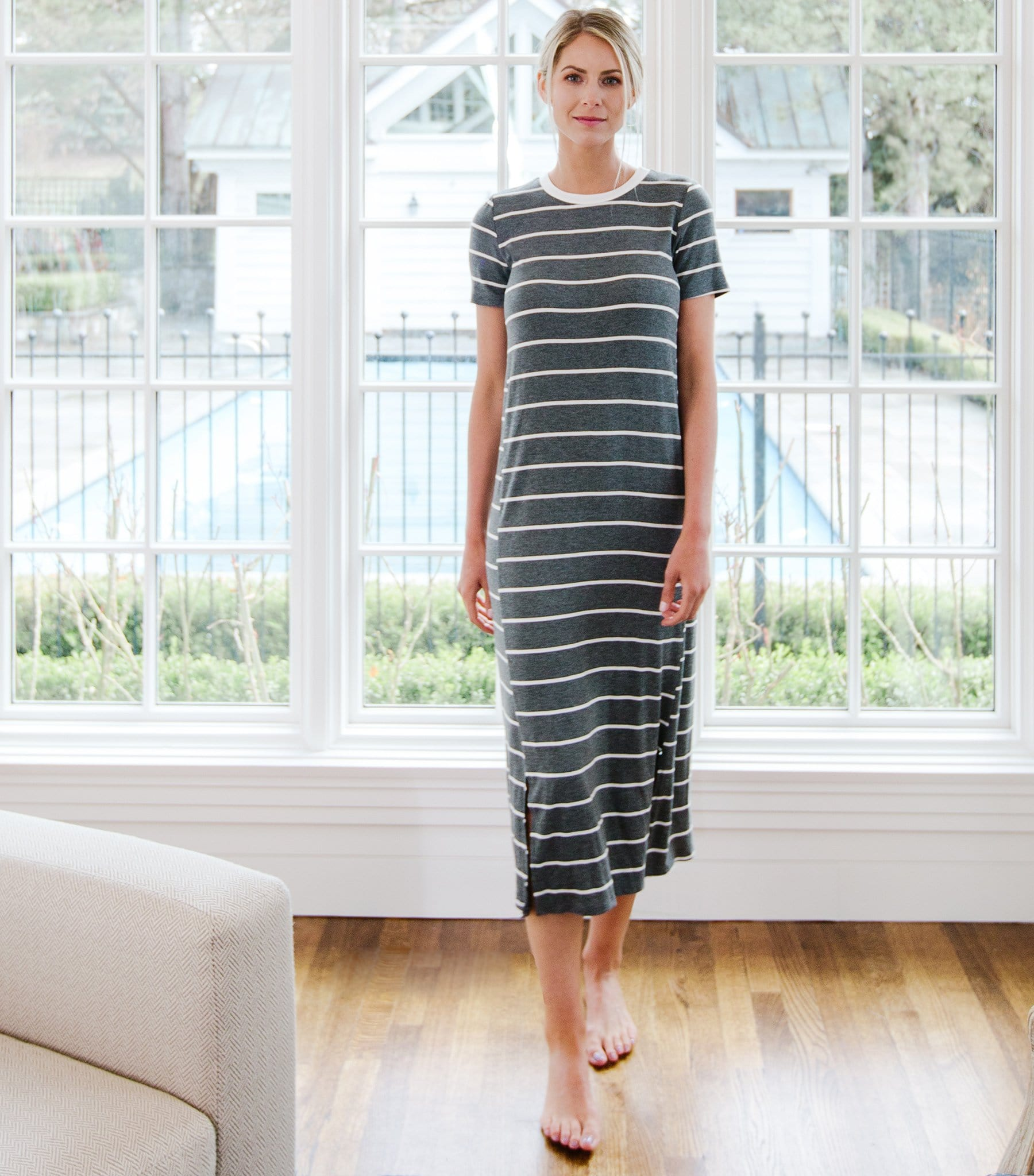 Stripe T-Shirt Dress