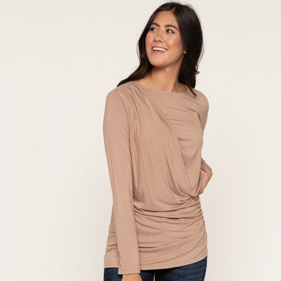 Signature Long Sleeve Drape Tee