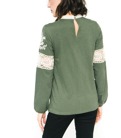 Embroidery Pin-Tuck Top