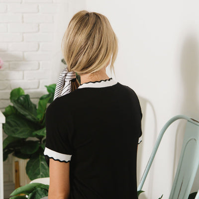 Bold Contrast Top