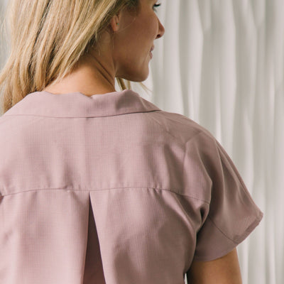 Pleat Front Pocket Top
