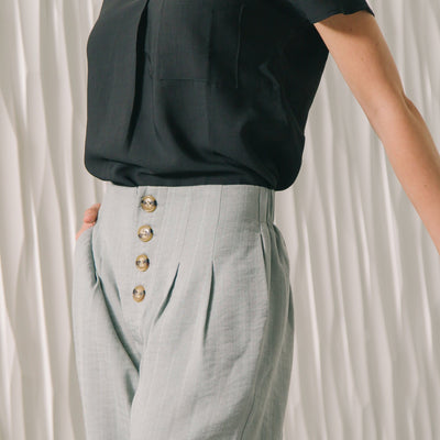 Button Detail Sailor Pant