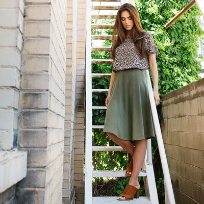 French Terry Circle Skirt