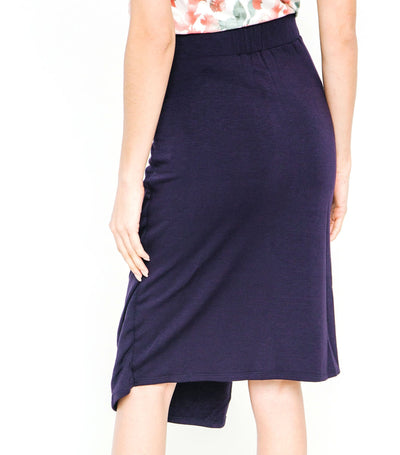 Pleated Wrap Pencil Skirt