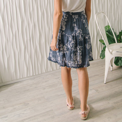 Ruffle Trim Skirt
