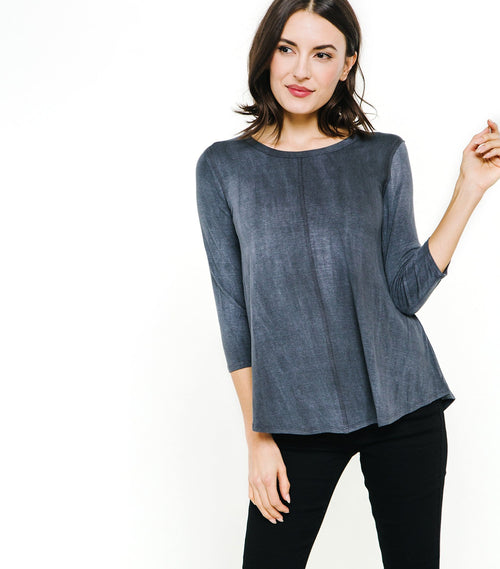 3/4 Sleeve Front Seam Top