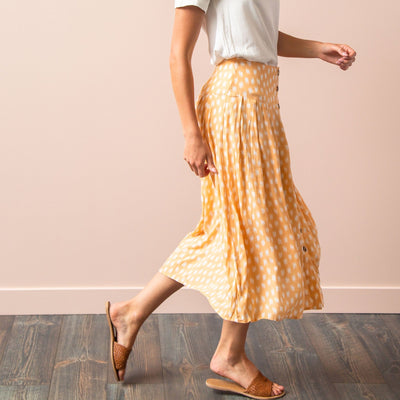 Just Peachy Printed Skirt