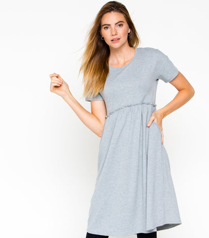 Courtside Spectator Dress - Heather Grey