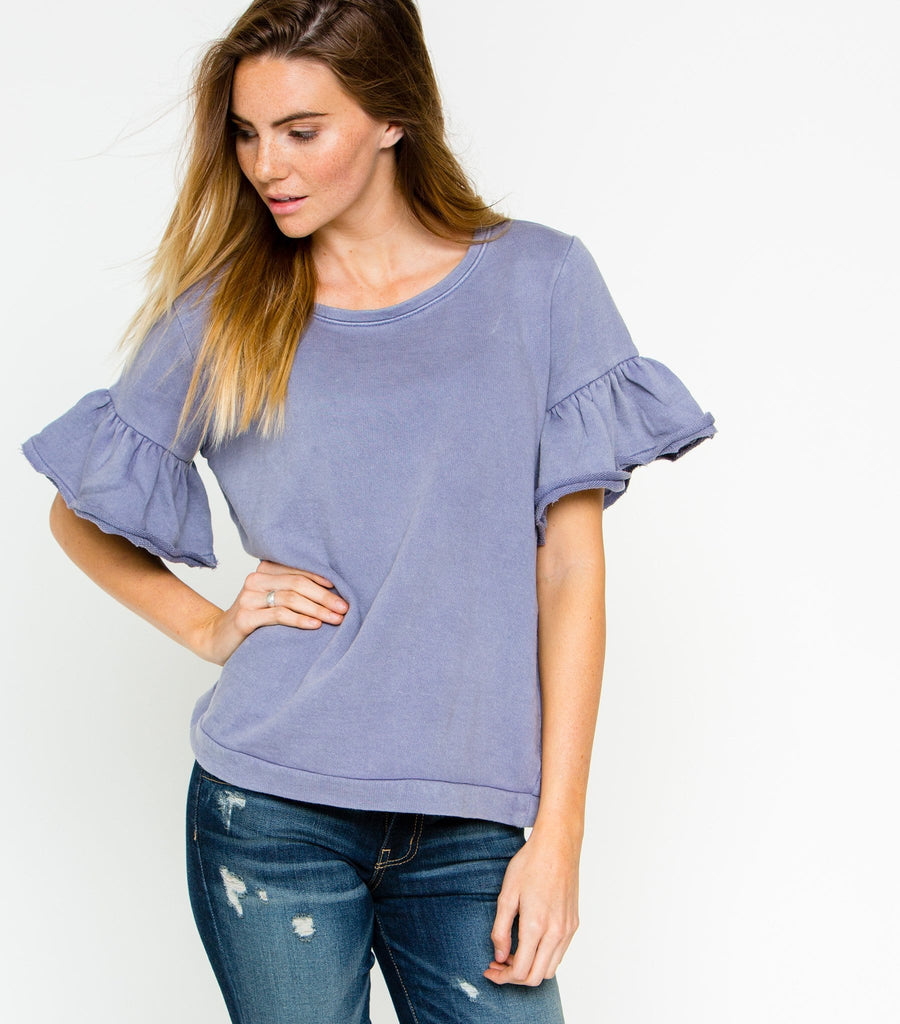 Relaxing in Style Top - Lilac