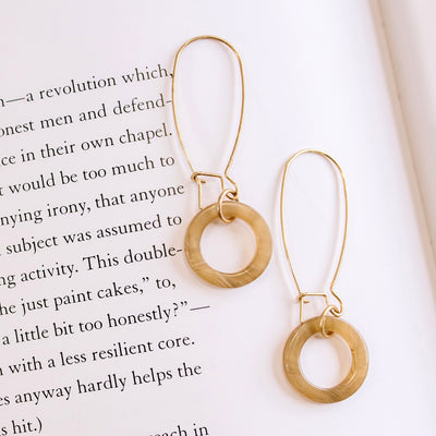 Acrylic Ring Earrings