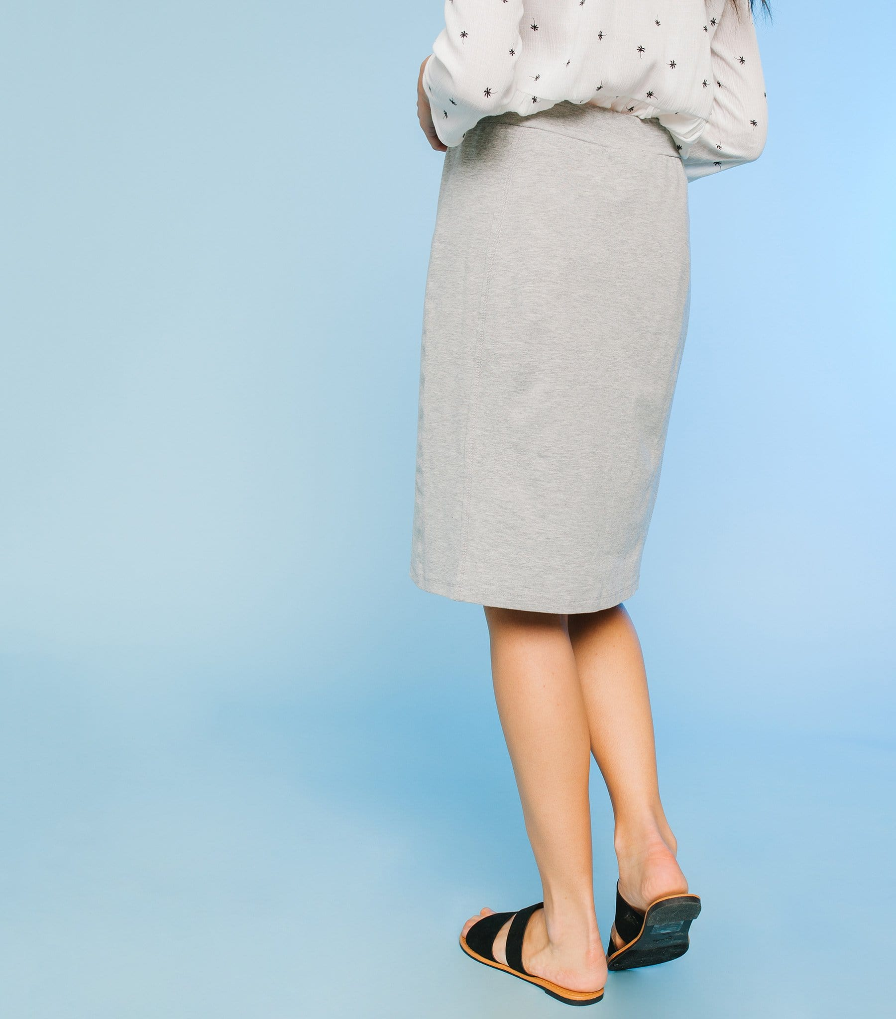 687e4938d2 French Terry Skirt with Drawstrings - Downeast