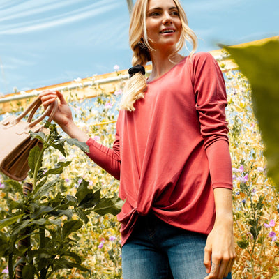 Dolman Twist Front Top