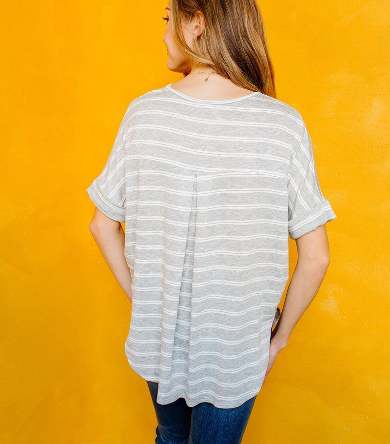 High Low Hem Stripe Top