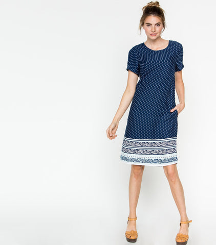 Across the Border Dress - Border Print