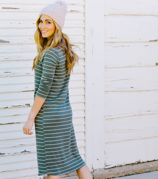 Striped Easy Dress