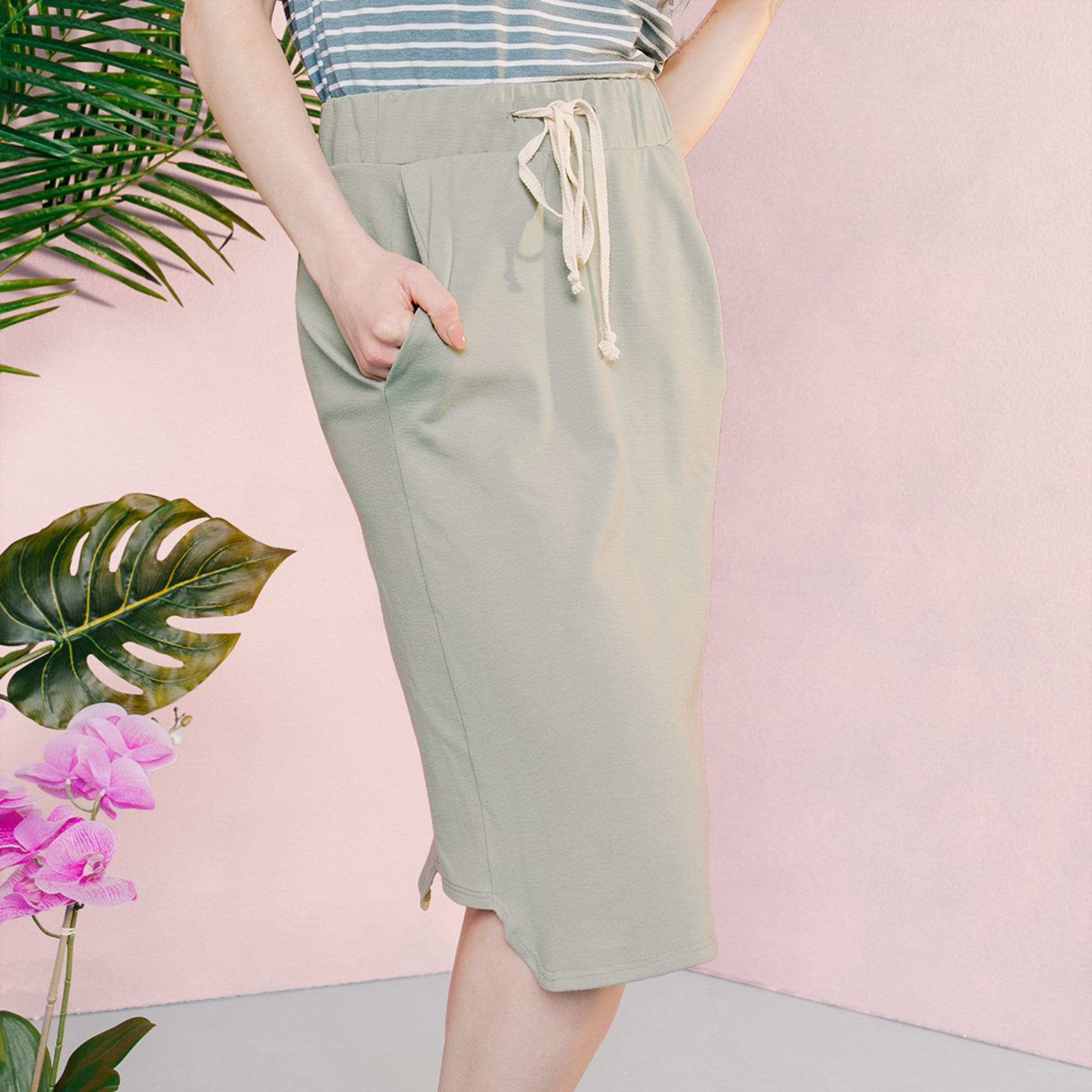 Relaxed Knit Skirt