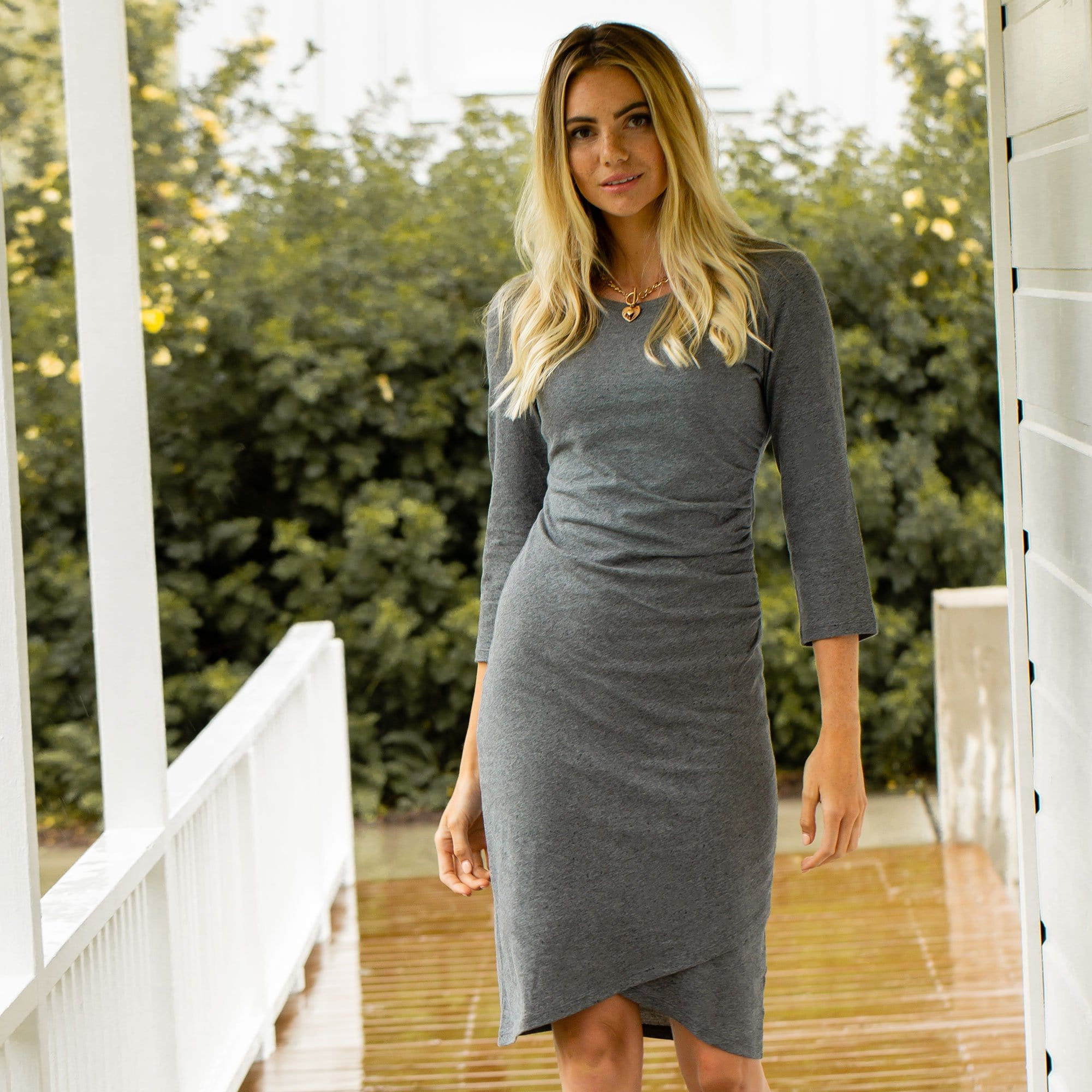 Side Shirred Dress