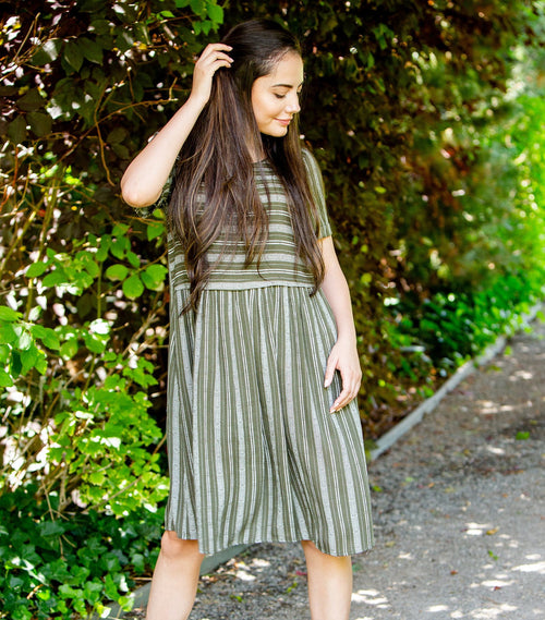 Batik Stripe Dress