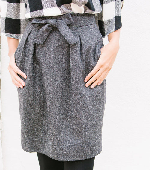 Donegal Belted Skirt