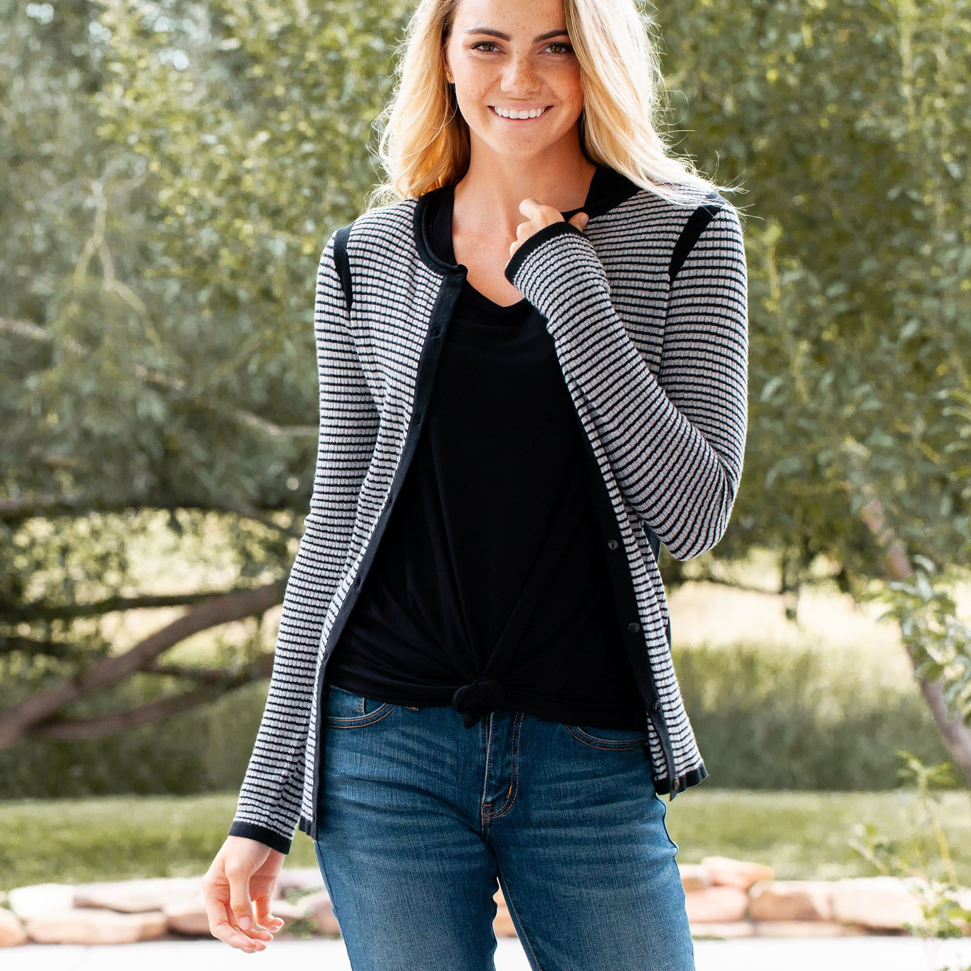 Contrast Sides Cardi