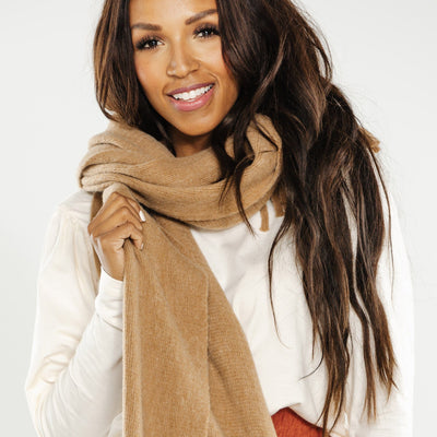 Brushed Fringe Scarf