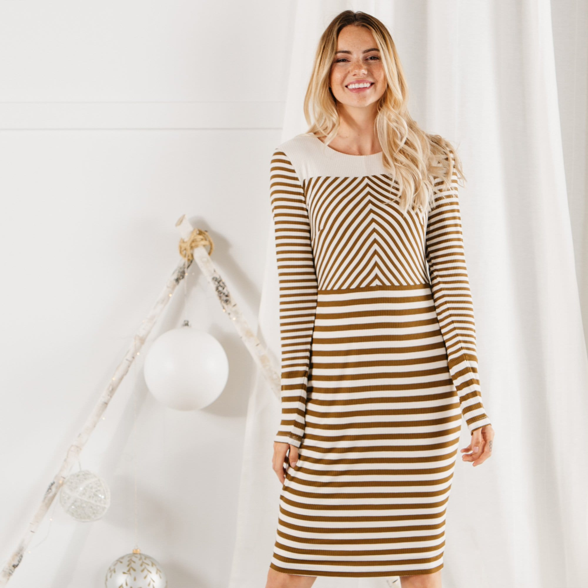 Stripes Unite Dress