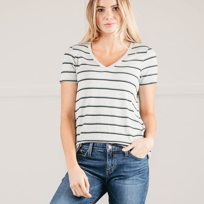 Stripe V-Neck Tunic