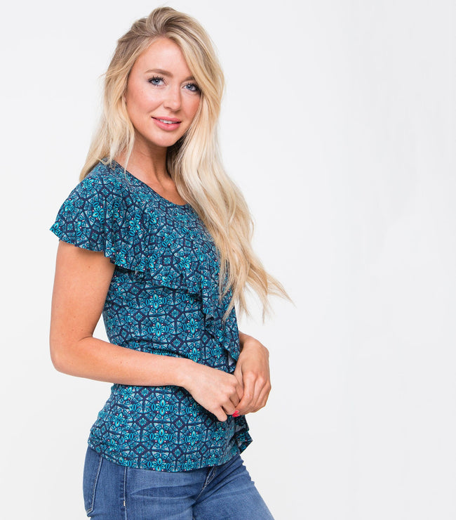 Power Ruffle Top