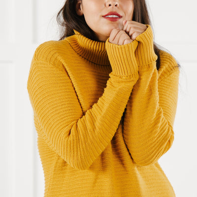 Turtleneck Sweater Dress