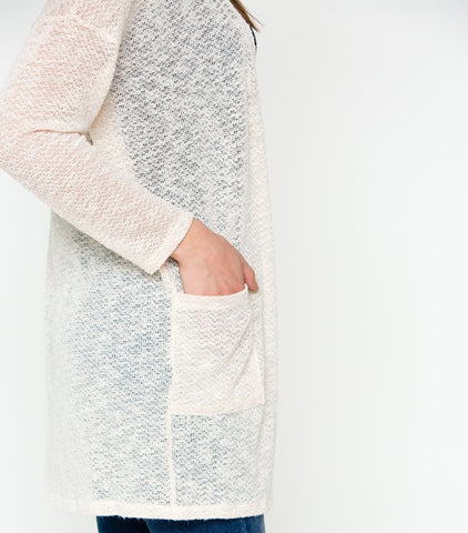 Uptown Chic Cardi - Taupe