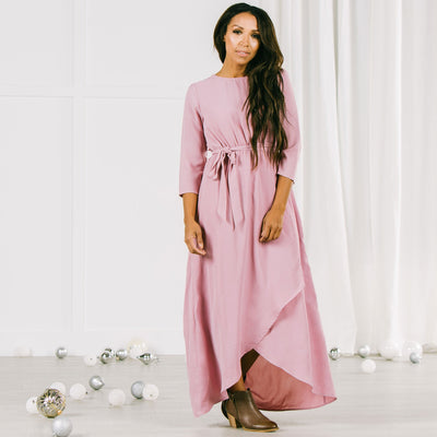 Eve High Low Dress in Mauve