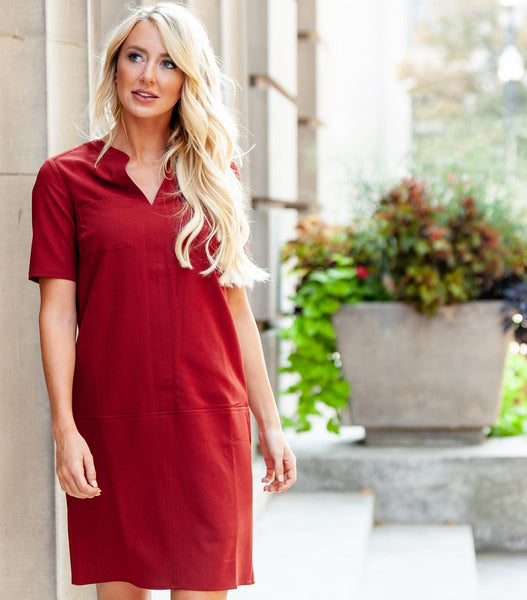 Shift Dress with Chest Pocket