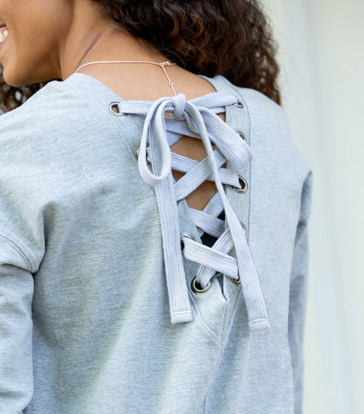 Laced Back Sweatshirt